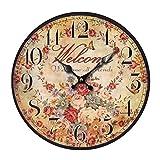 XinLuMing Reloj de Pared Silencioso Cocina Reloj de Casa Tra