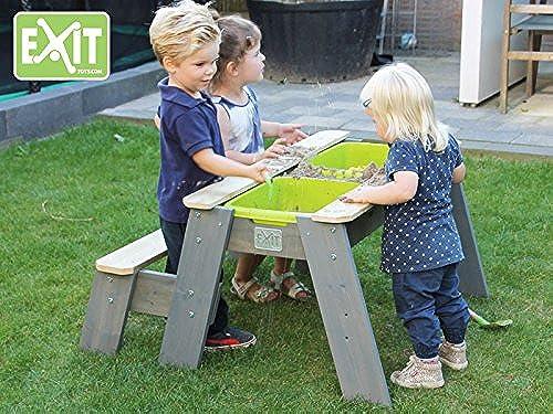 EXIT Aksent Sand-, Wasser und Picknicktisch mit 1 Bank   Material  Nordische Fichte   Ma  89x95x50cm     13,5 kg