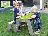 EXIT Aksent Sand-, Wasser und Picknicktisch mit 1 Bank / Material: Nordische Fichte / Maße: 89x95x50 cm / 13,5 kg