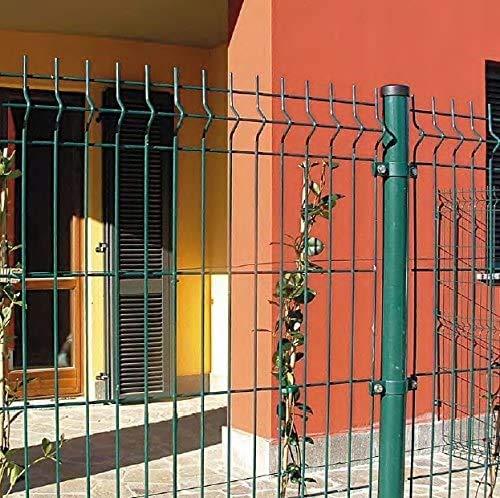 ITALFROM .clôture-Box modulaire pour Chiens en Fer galvanisé et Verni Vert avec poteaux à Enfiler – 600 x 400 x 122 h cm
