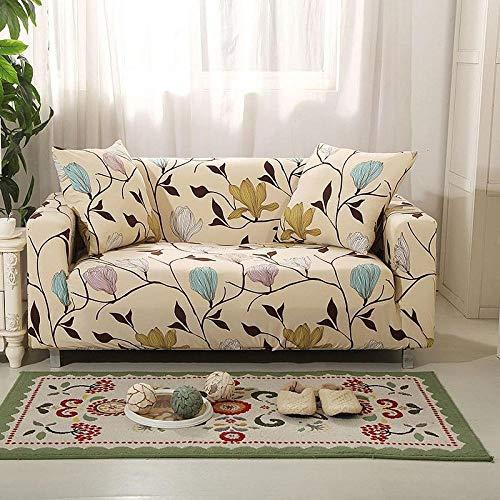 Lavable y elástico Estampado Funda de sofá 4 plazas 1 Uds, Fundas de sofá elásticas geométricas para sofás elásticos Fundas de sofá de Esquina, Protector de Fundas seccionales en Forma de L