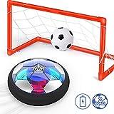 Ucradle Air Power Fußball Set Inkl. 2 Tore - 2019 Wiederaufladbar Hover Ball Indoor Football mit LED Beleuchtung, Super Spaß beim Fußballspielen in Innenräumen, Perfekt für Kinder...