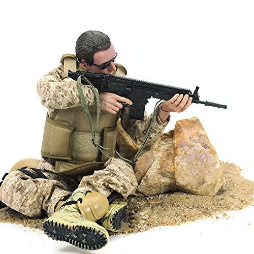Juego De Juguete De Soldado De Comando De 30 Cm, Figura De Acción Flexible De Las Fuerzas Especiales con Accesorios, Modelo De Soldado del Ejército para Niños, Juego De Simulación De Guerra Militar