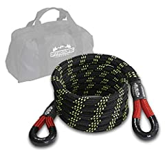 "INCREDIBLE BREAKING STRENGTH - Made from heavy-duty double braid nylon, this high-stretch recovery snatch rope is built to withstand the toughest situations. 20'x3/4"" Breaking Strength: 28,600 lbs. RECOVER OR TOW MOST TYPES OF VEHICLES- Ideal for rec..."