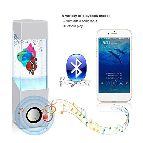 HOPESOOKY Wireless Colorful Night Light Fish Dancing Water Speakers...