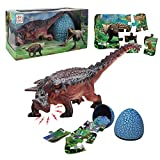 Ankylosaurus Toy for Kids Boys and Girls Age 3 and up, Realistic Roaring Jumbo Dinosaur & Dinosaur Puzzle & Dinosaur Egg 3 in 1 Toddler Toys Set Play, Education, Birthday …