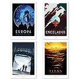 """Nukular 4er Set Kunstdruck Poster A3 """"Monde"""" Original"""