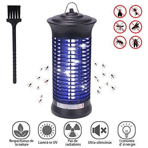 CGBOOM Lampe Moustiques, UV LED Moustique Tueur Lampe, Electrique Tue Mouches, Piège a Moustique Insectes Zapper, Lampe Anti Moustiques pour Extérieur et Intérieur