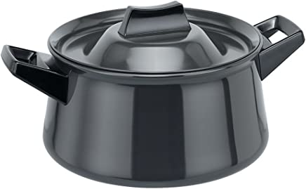 Hawkins Futura Hard Anodised Handi Sauce Pan, 3 litres, Black