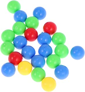 Lsmaa 5 Bags Game Replacement Balls Plastic Colorful Games Balls Game Ball Toys Compatible for Board Games Frog Eating Toy...