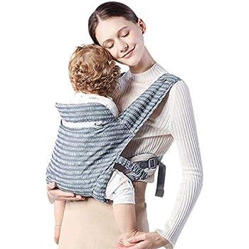 REENUO 抱っこひも 抱っこ紐 ベビースリング おんぶ紐 ベビーキャリア ベビーシート 赤ちゃん 新生児100%綿製 通気性良い 超軽量 収納袋付き 持ち運び便利 出産祝い 対面抱っこ 前向き抱っこ 新生児から3歳まで(ネイビーブルー)