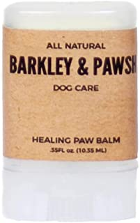 All Natural Dog Paw Balm Ointment for Dry, Cracked, Flaky Pads 4 fl oz Cruelty and Chemical Free Made in The USA