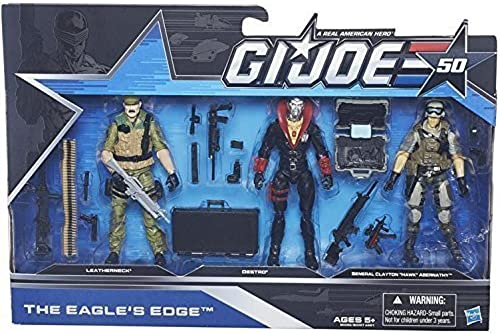 ventas de salida G.I Joe 50th Annivesary The Eagle's Edge 3-Pack 3-Pack 3-Pack Leatherneck, Destro and General Clayton  Hawk  Abernathy by G. I. Joe  ganancia cero