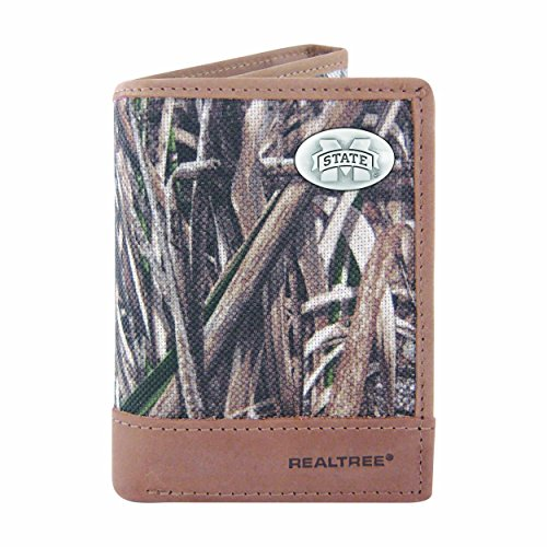 NCAA Clemson Tigers Brown Wrinkle Leather Roper Concho Wallet One Size