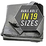 Trademark Supplies Tarp Cover Silver/Black Heavy Duty Thick Material, Waterproof, Great for Tarpaulin Canopy Tent, Boat, RV or Pool Covers !!!