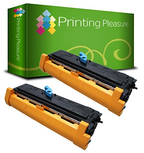 Pack 2 Unidades EPL-6200 Tóner Compatible con Epson EPL-6200L, EPL-6200N