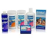 Cristal Poolpflege-SET Sauerstoff 4,1 kg - Wasserpflege Starter Set für die chlorfrei Pool Pflege