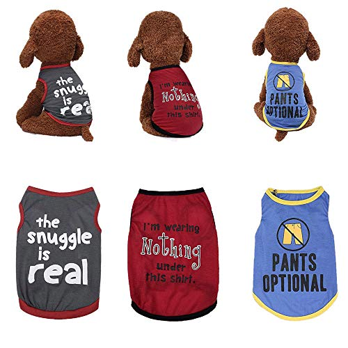Sebaoyu Dog Clothes for Small Dogs Girl Puppy Clothes Dog Apparel & Accessories for Dogs Small Dog Clothes Dog Clothes for Small Dogs Boy Chihuahua Dog Clothes for Large Dogs French Bulldog Clothes