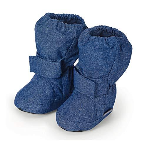 Sterntaler Baby-Schuh, Unisex-Baby Krabbelschuhe, Blau (Tintenblau Mel. 376), 17/18 EU
