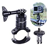 SEASKY Bike Handlebar Mount Clip Aluminum Alloy Bicycle Motorcycle Bracket Suitable for GoPro Hero 10/9/8/7/6/5 Black Sport Camera and DJI OSMO Action Insta360 ONE R Sports Cameras