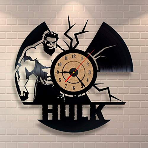 wtnhz LED-vinyl record wall clock Vinyl Wall Clock 7 Color Night Lamp Retro Wall Clock Gifts for Kids and Friends