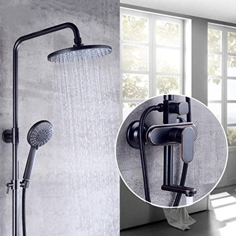 Gyps Faucet Waschtisch-Einhebelmischer Waschtischarmatur BadarmaturRetro Schwarz Voller Kupfer Dusche und Kaltwasser Dusche Wasserhahn G,Mischbatterie Waschbecken