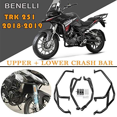 LJBusRoll Motorcycle Engine Bumper Guard Crash Bars Protector Steel for Benelli TRK251 TRK 251 2018 2019 Bumpers Safty Accessories
