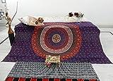 Blue Hippie Mandala Tapestry Large Bohemian Tapestries Hippy Handmade Wall Hanging boho Gypsy bedspread Purple Pink Beach Blanket Wall Art Decor Twin Bedspread