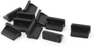 TOOGOO 10 pezzi Porta USB in silicone spina tappo protezione antipolvere tappo nero