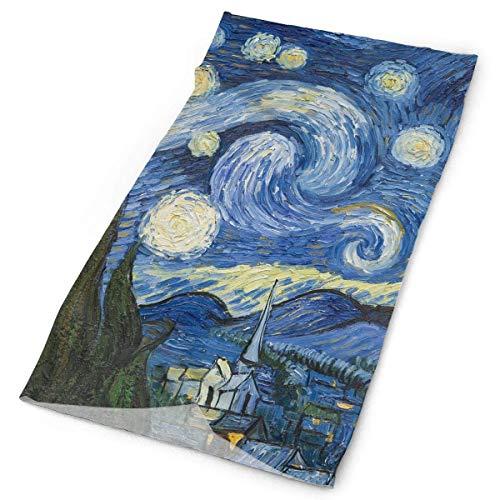 MOTALIN Diadema Vincent Van Gogh Arte Pintura Al Óleo Noche Estrellada Bufanda Al Aire Libre Cuello Más Cálido Cuello Polaina Envoltura De La Cabeza Banda para El Sudor Ropa Deportiva