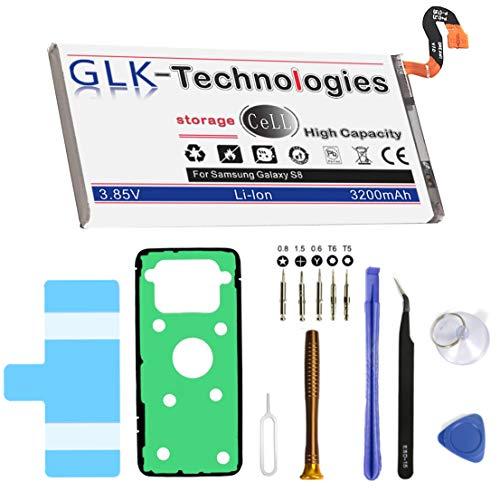 High Power Ersatzakku für Samsung Galaxy S8 SM-G950F EB-BG950BBE   Original GLK-Technologies Battery   Accu   3200 mAh   inklusive Werkzeugset