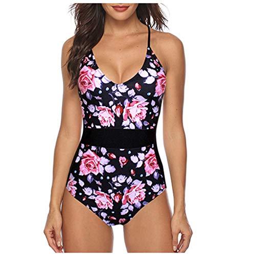 Buy Traje De Baño Barato De UNA Pieza para Mujer Push-Up Bikini De Cintura Alta Traje De Espalda Cr...