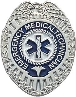 EMT Silver Badge Lapel Pin Emergency Medical Technician Paramedic EMS - A 80