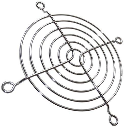 AERZETIX: 5x Chrom-Kühlergrill PC-Lüftungsgitter 92x92mm Lüftungs Schutz für Computergehäuselüfter PC C15096