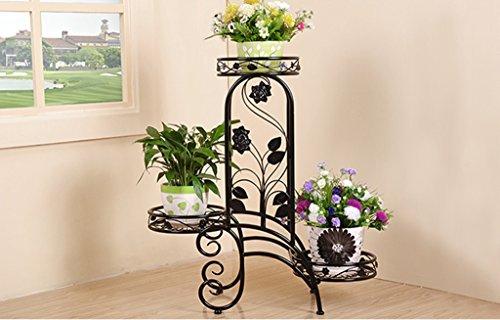 JAZS® Porte-fleurs, plancher en bois de style européen Salon intérieur et extérieur Porte-pot à fleurs étagère de pots 60 × 24 × 69cm protection de l'environnement raffinée ( Couleur : #1 )