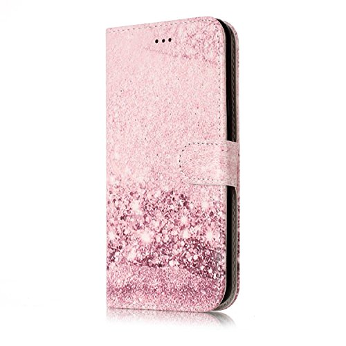 ISAKEN compatibile con Samsung Galaxy J5 2016 Cover - Libro Wallet Flip Case Portafoglio Custodia in PU Pelle Colorate Marmo Cover con Supporto di Stand/Carte Slot/Chiusura, Marmo -1