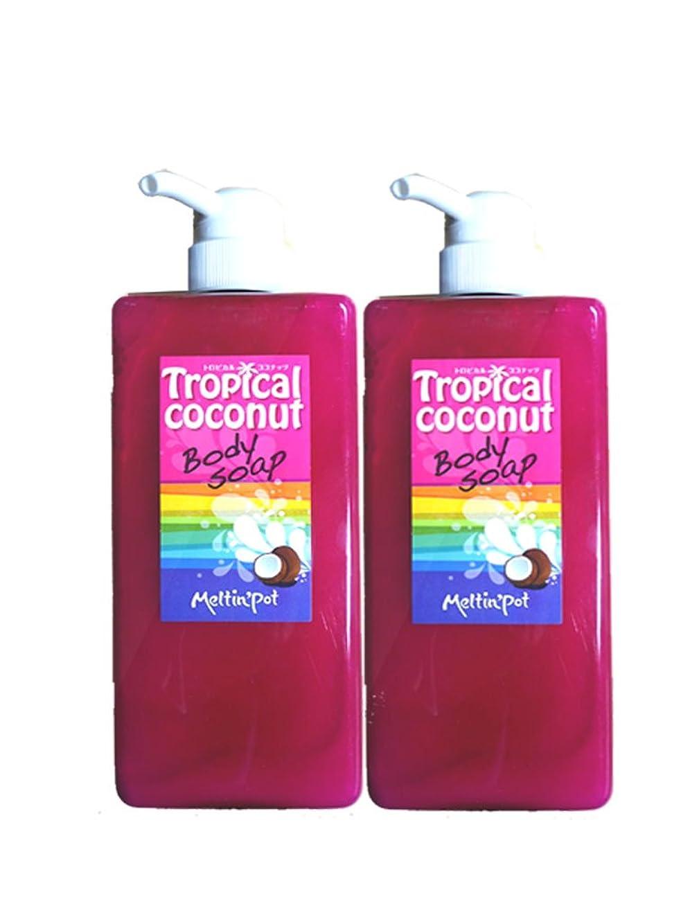 警告するペリスコープグッゲンハイム美術館トロピカルココナッツ ボディソープ 600ml*2セット Tropical coconut Body Soap 加齢臭に!