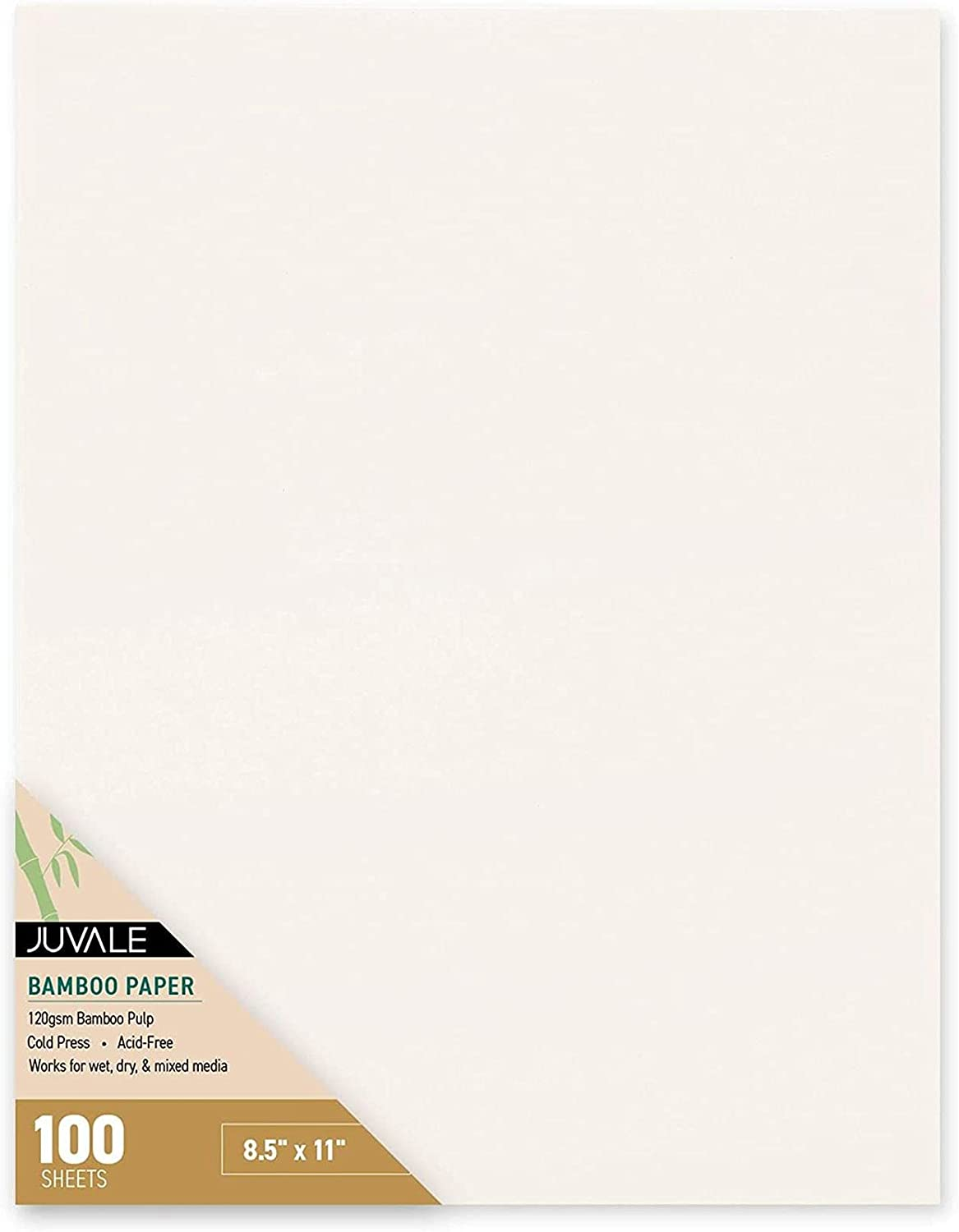 100 Cold Press Bamboo Paper Sheets for Mixed Media, Drawing, Painting (8.5 x 11 in) : Arts, Crafts & Sewing