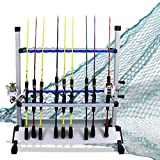 LUXHMOX Fishing-Holder Stand Holds up to 24 Rod-Rack for All...