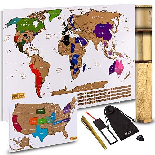 Scratch Off World Map + Scratch Off…