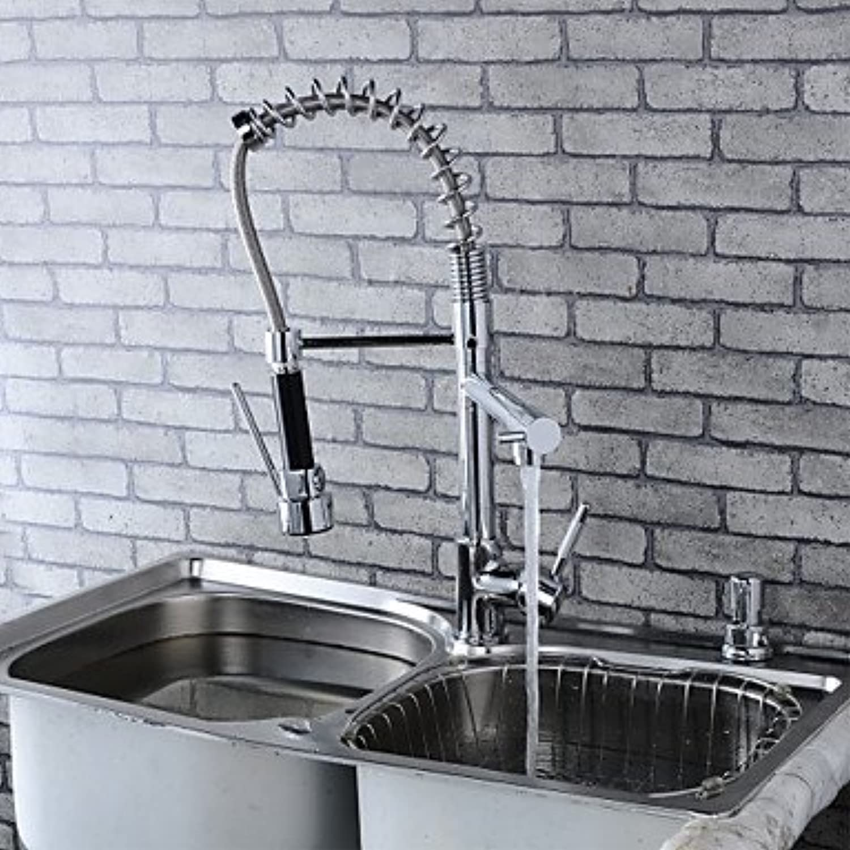 SUNNY KEY-Kitchen Sink Taps@Modern Single Brass Spring Kitchen Faucet