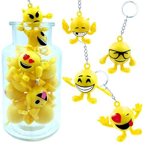 German-Trendseller ® - 24 x Emoji Party Mix Emoticons ┃ Mitgebsel ┃ Kindergeburtstag ┃ 24 Stück