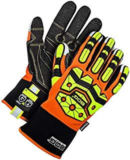 Bob Dale Gloves 20911940XL Winter Impact Performance Glove Cut 5 Palm Hi-Viz Orange,