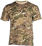Mil-Tec EE.UU. Army T-Shirt por niños Camuflaje cualidad Ligero (Multitarn/XS)