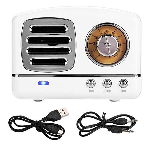 HM11 Mini Bluetooth V4.1 Inalámbrico Retro HiFi Radio Altavoz Subwoofer portátil Reproductor de música Soporte TF Tarjeta en Radio de Electrónica de Consumo en AliExpress.com   Grupo Alibaba Blanco