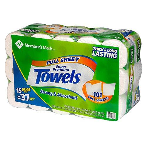 Member's Mark Premium Huge Paper Towel Rolls (15 rolls)