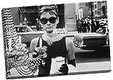Panther Print - Stampa su tela grande, con Audrey Hepburn con occhiali da sole, 76 x 50 cm
