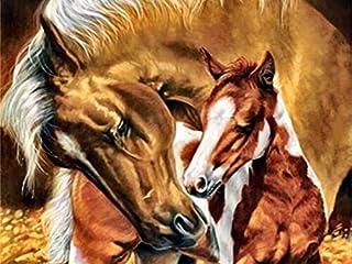 Diamant borduurwerk dier kruissteek 5D DIY diamant schilderij paard mozaïek strass woondecoratie A2 40x50cm