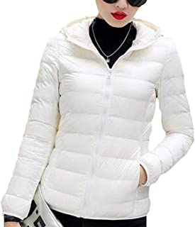 Macondoo Womens Warm Coat Zipper Hooded Lightweigth Puffer Down Jackets
