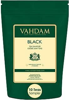 VAHDAM, Black Tea Sampler - 10 TEAS, 50 Servings | 100% Natural Ingredients | Brew Hot, Iced, Kombucha Tea | Black Tea Loose Leaf | Tea Variety Pack | Healthy Coffee Replacement